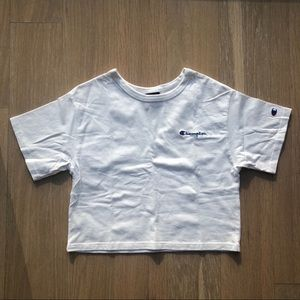 Champion Cropped Tee in White